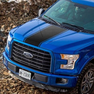 Ford F-150 2015-2018 Center hood F Rally graphics stripe decal Ford Performance