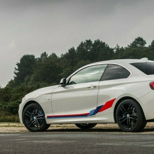 Side Stripe Graphics for BMW 2 Series F22 Coupe M Performance, sticker decals