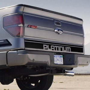 Ford F-150 2009-2013 Platinum Bed Tailgate Accent Vinyl Graphics stripe decal