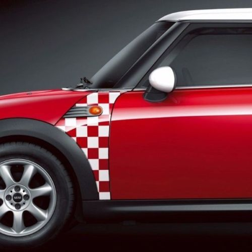 BMW Mini Cooper R55 R56 R57 A Panel Checkered Flag Decal Sticker Graphics