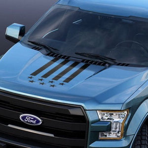 Ford F-150 2015-2018 USA hood graphics stripe decal Ford Performance