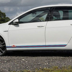 Volkswagen Golf MK 7 Martini Racing stripe graphics decal, Martini sticker