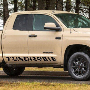 Toyota Tundra Double Cab 2016 graphics side stripe decal - Model 1