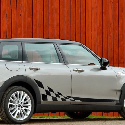 Mini Cooper Clubman F54 JCW 2015-2018 checkered side stripe graphics decal