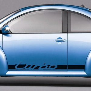 Volkswagen New Beetle 1998-2011 turbo lettering side graphics decal