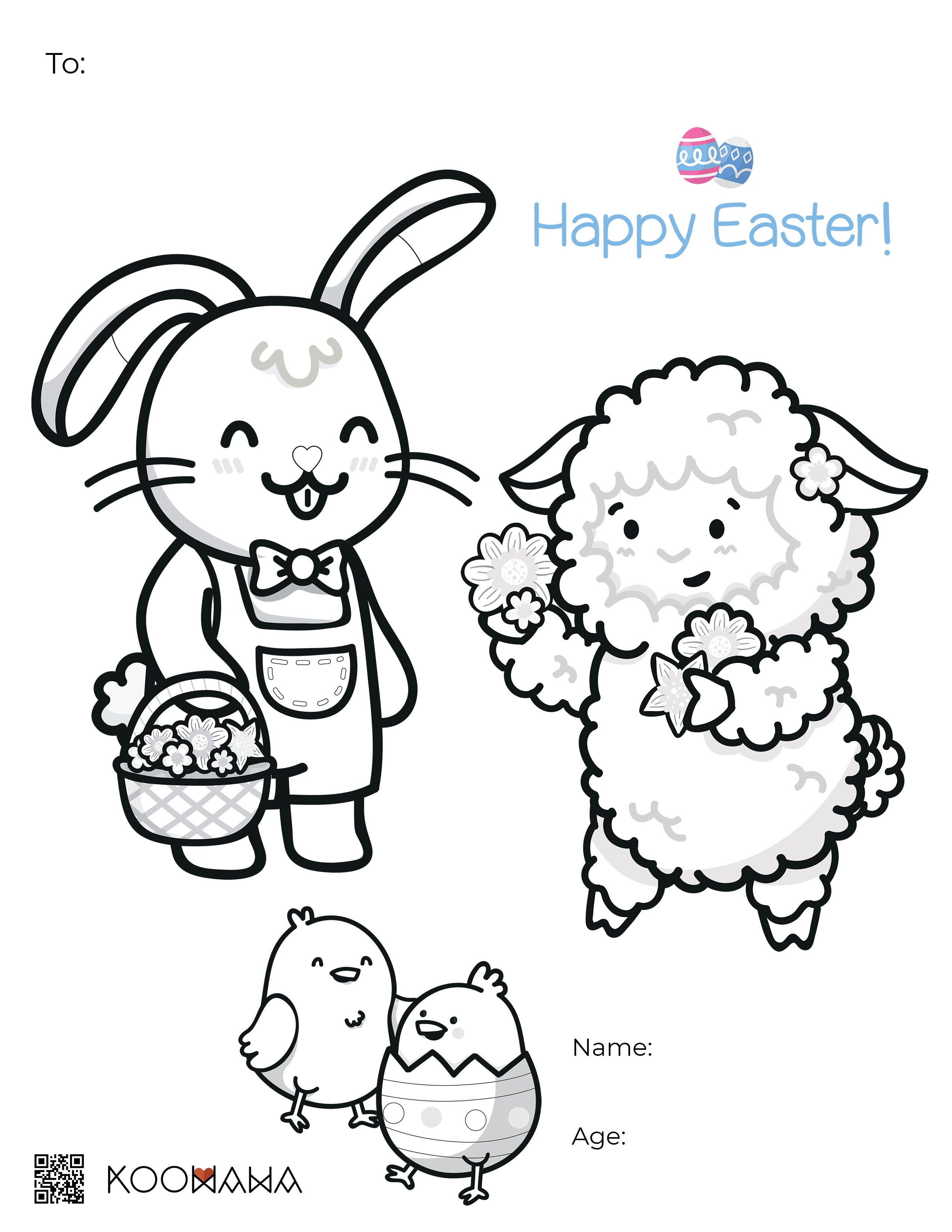 Spring Colouring Page 2021