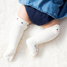Load image into Gallery viewer, Bunny White Knee High Socks