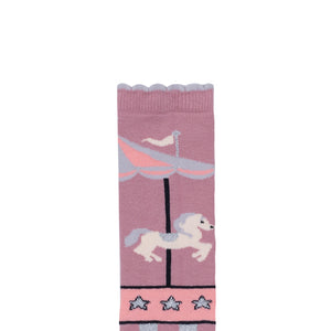 Carousel Knee High Socks