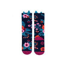 Load image into Gallery viewer, Garden Knee High Socks - Navy