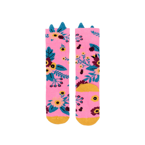Garden Knee High Socks - Pink