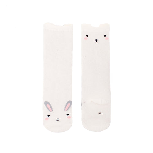 Bunny White Knee High Socks