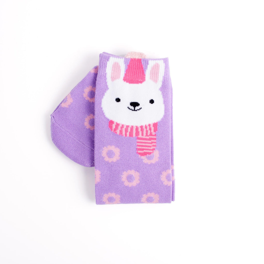 Cozy Bunny Knee High Socks
