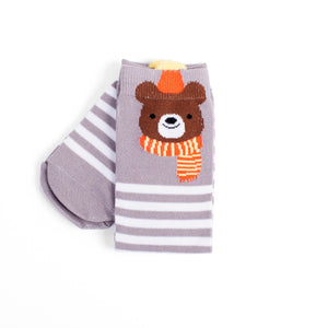 One Size Toasty Bear Knee High Socks