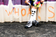 Load image into Gallery viewer, Bow Tie Knee High Socks