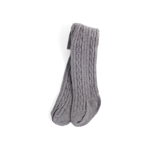 Infant Neutral Cable Knit Tights
