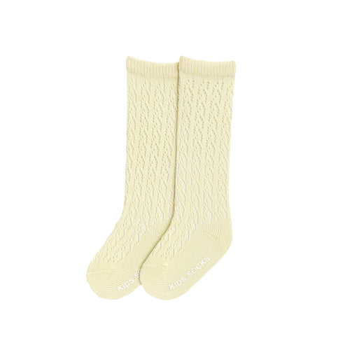 Crochet Knee Socks - Pina Colada