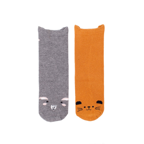 Little Critters Duo - Mouse & Squirrel Socks