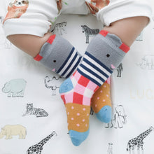 Load image into Gallery viewer, Seaspray Bunny Midi Socks - Gingham