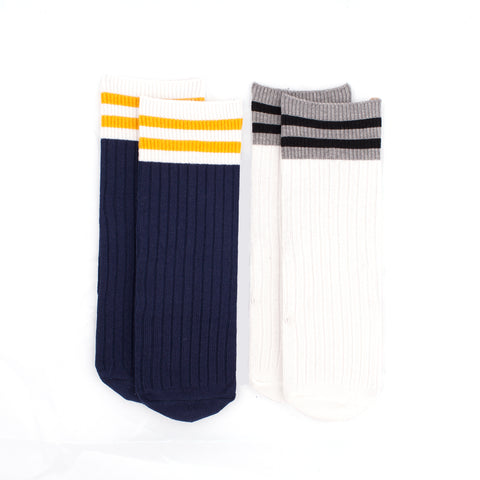 *New* Striped Ribbed Knee High Socks