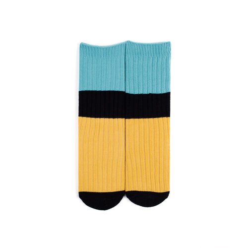 Colour Block Midi Socks