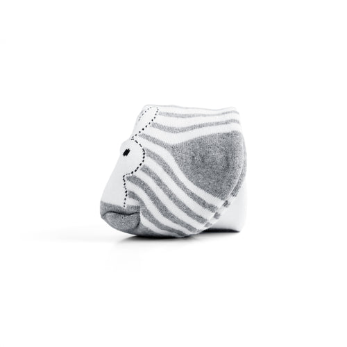Toddler Bunny Striped Winter Terry Tights