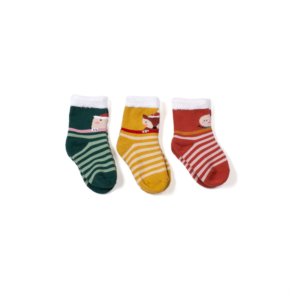 Holiday Crew Socks 3 Pack