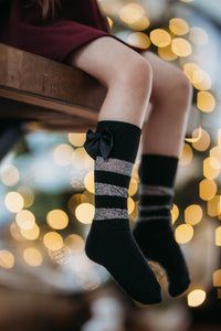 Tinsel Knee High Socks with Bow