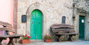 Tuscan Green doors