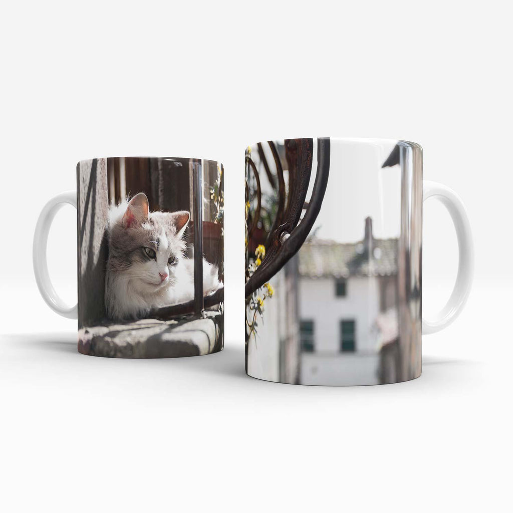 Mug 11oz - Cat on a Hot Window Ledge
