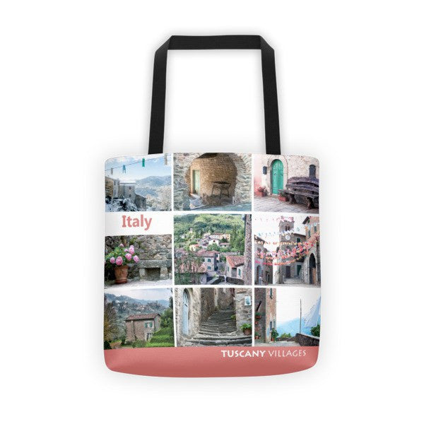 Picture Collage Tote Bag - Red
