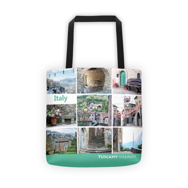 Picture Collage Tote Bag - Green