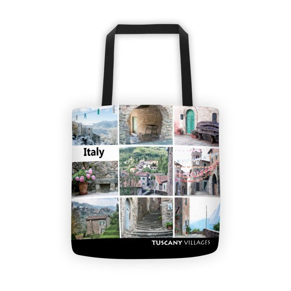 Picture Collage Tote Bag - Black