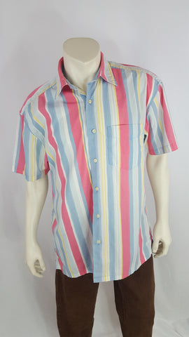 Nautica Colorful Striped Shirt Size L