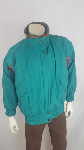 Vintage 80's PAO Originals Teal Jacket