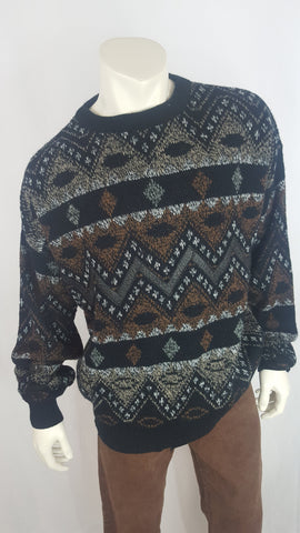 Impact Black and Brown Pattern Sweater