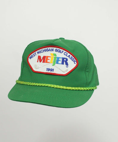 Vintage 90's Meijer Golf Classic Hat w/ Cord - Steeze Clothing