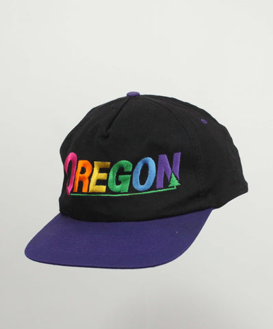 Vintage 90's Black Oregon Hat - Steeze Clothing