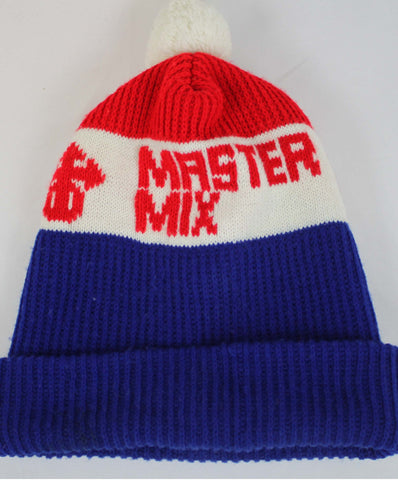 Vintage Master Mix Poof Ball Hat Red White & Blue - Steeze Clothing