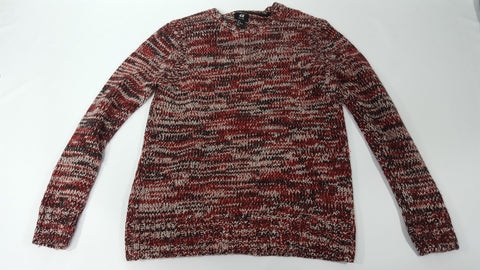 H&M Wool Blend Sweater L Red and White - Steeze Clothing