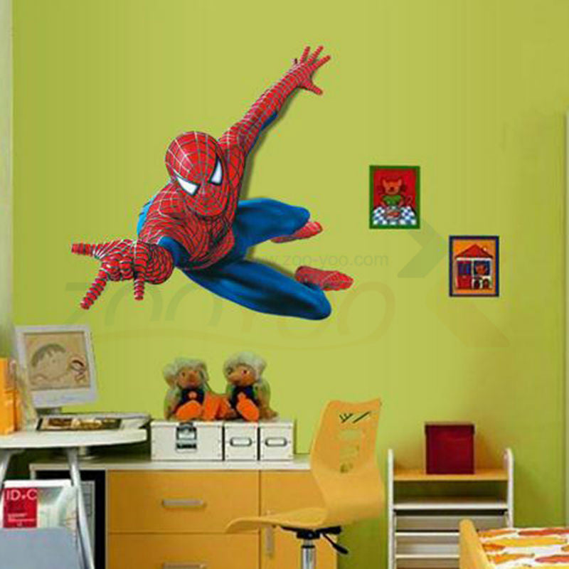 very boy have a dream be spiderman wall stickers for kids room pvc wall decal for Children Boys Kids room Superman Super Hero  very-boy-have-a-dream-be-spiderman-wall-stickers-f
