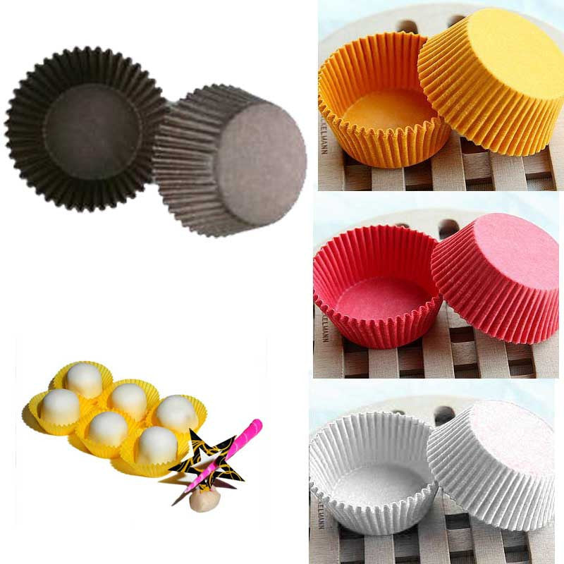 480 PCS Paper Cake Cup Liners Baking Cup Muffin Kitchen Cupcake Cases & Happy Kitchen Time forma de Smile Black 480-pcs-paper-cake-cup-liners-baking-cup-muffin-ki
