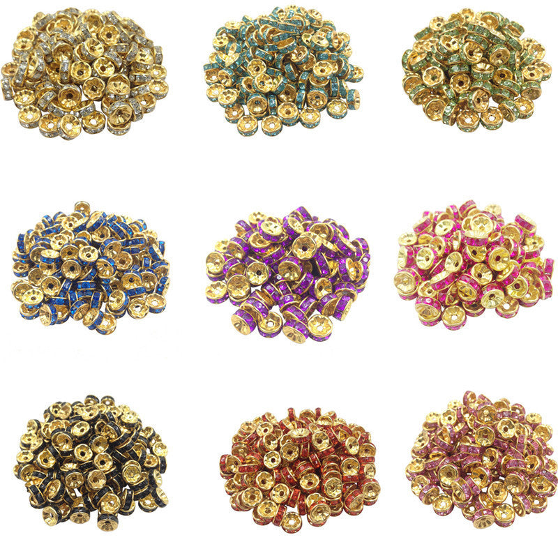 Hot 50 pcs/lot 8MM 2015 Fashion DIY Gold plated Wheel Charm Loose Spacer Matal Beads for Jewelry Making Free Shipping Wholesale as picture 1 hot-50-pcs-lot-8mm-2015-fashion-diy-gold-plated-wh