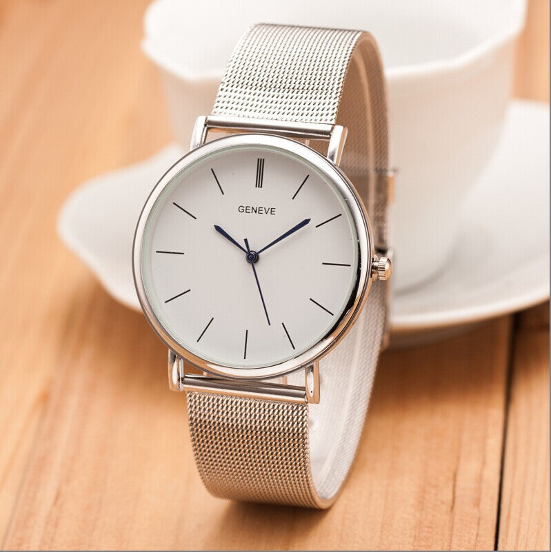 2015 New Luxury Brand Top Quality Casual Geneva Quartz Watch Women Metal Mesh Stainless Steel Dress Watch Relogio Feminino Clock Silver 2015-new-luxury-brand-top-quality-casual-geneva-qu