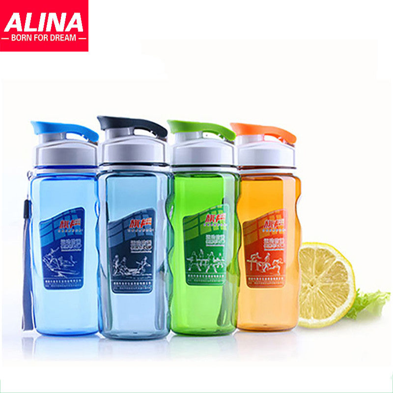 Plastic Space Cup Leak Proof Glass With Cover Movement Students Are Lovely Cup The Portable Bottle 470 ML ORANGE plastic-space-cup-leak-proof-glass-with-cover-move