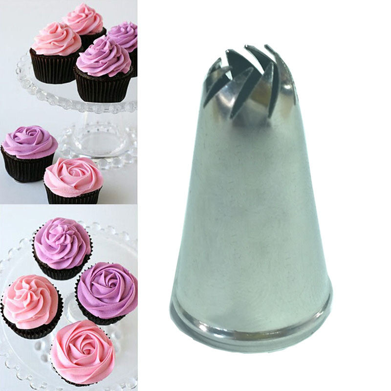 Drop Rose Flower Cup Ice Cream Piping Tip Nozzle Cake Decorate Craft Pastry Tool  drop-rose-flower-cup-ice-cream-piping-tip-nozzle-c
