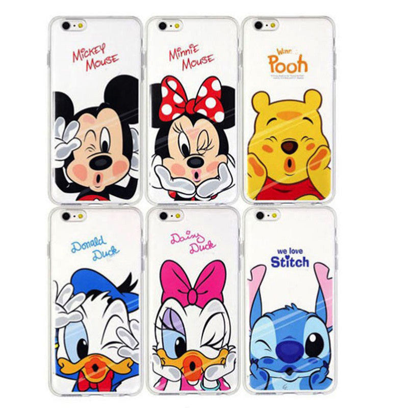 Funny Minnie Mickey Cartoon Soft TPU Case For Apple iPhone 5 5s 5/5s 5SE SE Characters IMD gel Back Cover Skin Coque Capa Para for iphone 5 5s funny-minnie-mickey-cartoon-soft-tpu-case-for-appl