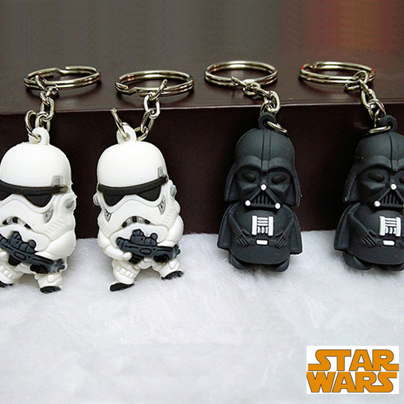 Wholesale Star War Keychain Darth Vader Storm Trooper Action Minifigure Keychain Star War Action Figures Toy Gift Llavero ZKSWMD BB 8 wholesale-star-war-keychain-darth-vader-storm-troo