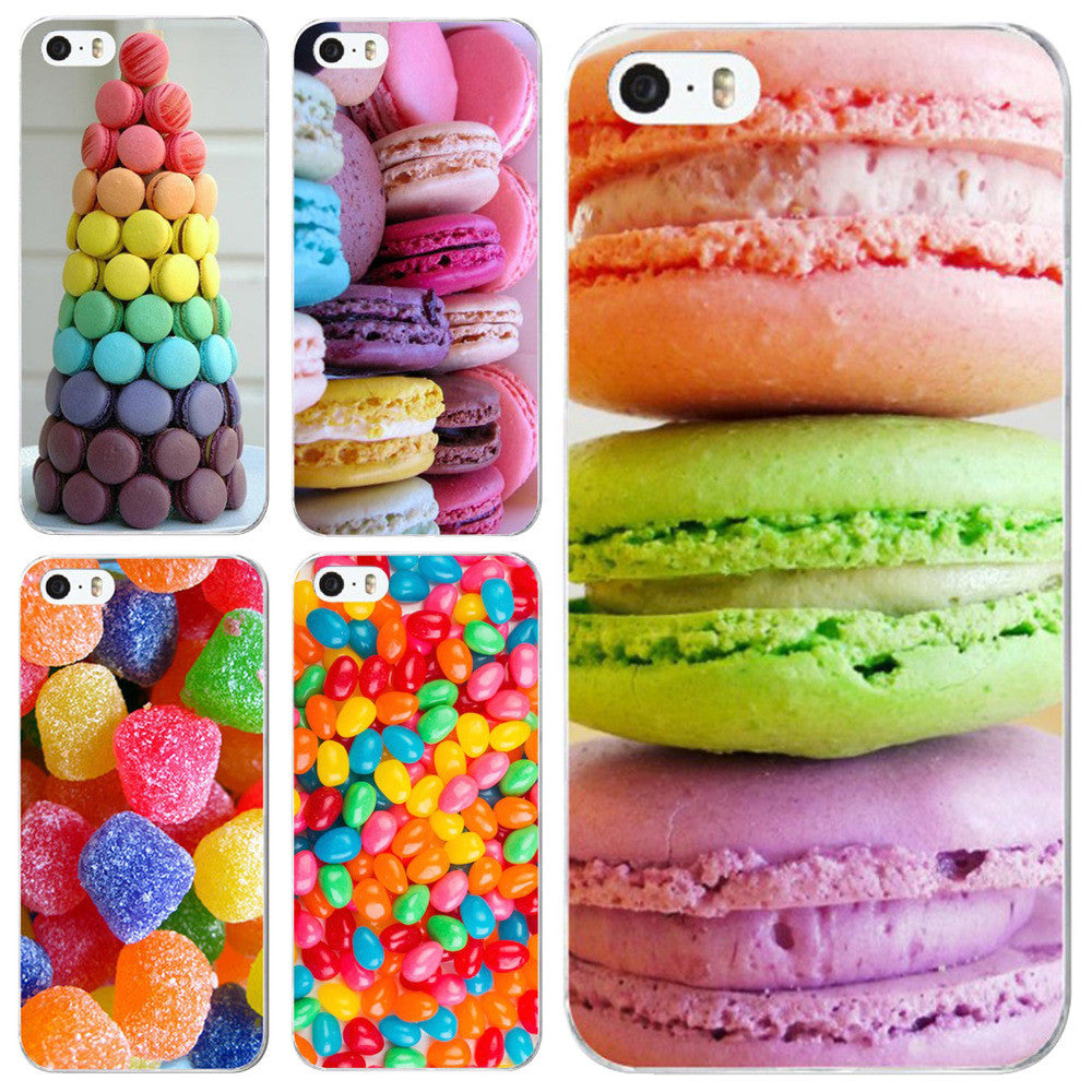 phone case for iphone 5 5s SE new arrival hot dessert ice cream Macarons fruits strawberry sweet emboss hard cover UV print Dark Grey phone-case-for-iphone-5-5s-se-new-arrival-hot-dess