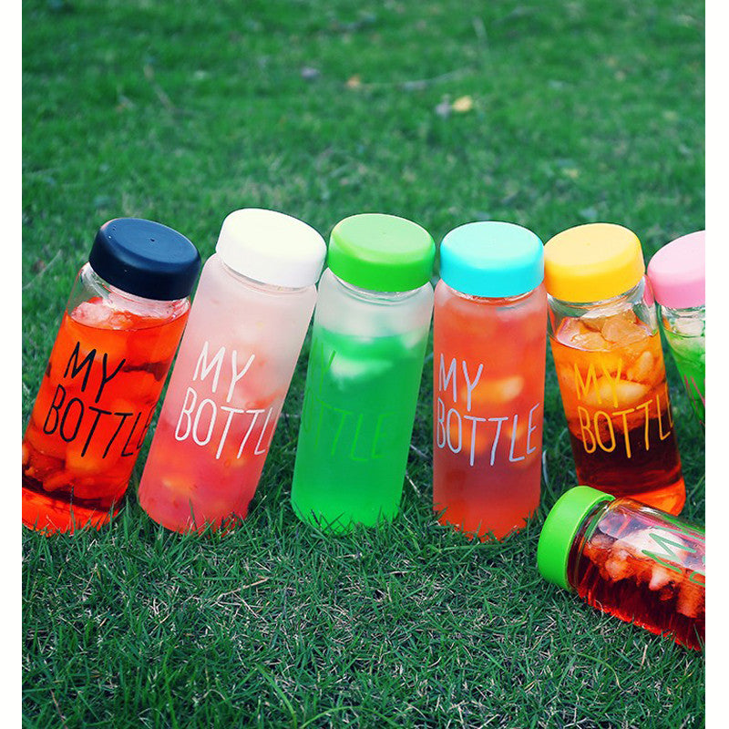 wholesale 6 style Frosted Water bottles fashion creative juice tea coffee thermos readily Lightweight portable space cup DL1892 501 600ml / Frosted black wholesale-6-style-frosted-water-bottles-fashion-cr