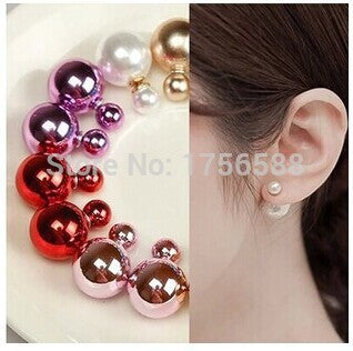 European and American fashion retro simple imitation pearl earrings exaggerated the size of the female Free Shipping Green 16 european-and-american-fashion-retro-simple-imitati